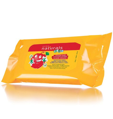 Icky, sticky hands and faces? Cleanse and refresh anytime! With aloe and vitamin E. 30 pre-moistened wipes. Keep some in the car for those unexpected messes! Get the Naturals Kids Amazing Apple Hand & Face Wipes here: https://tinawinder.avonrepresentative.com/