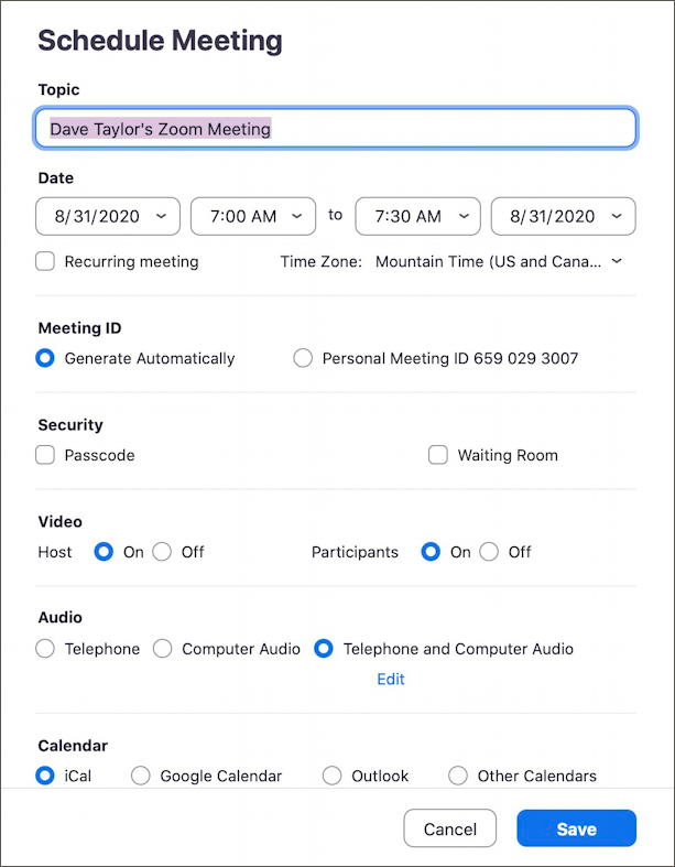 How To Schedule And Start A Zoom Meeting University Of Denver Told You So Informative