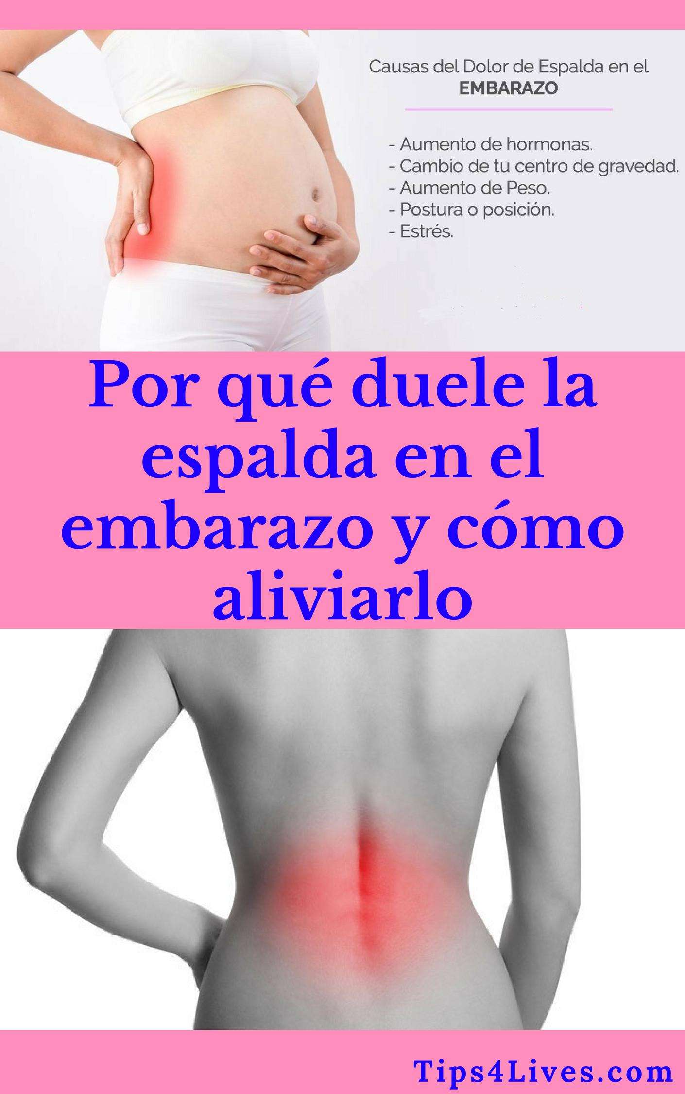 dolor de espalda y senos en el embarazo