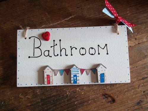 Bathroom Signs Ebay shabby nautical bathroom sign plaque seaside beach huts chic gift