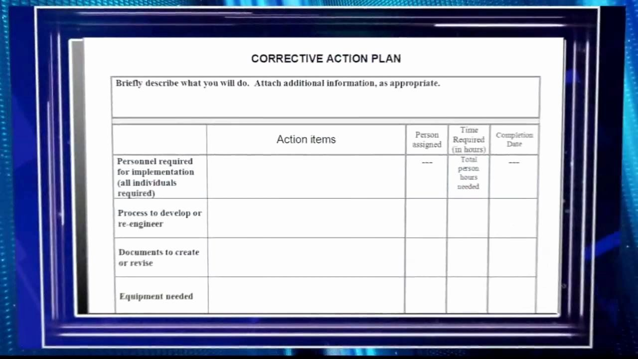 25 Sample Corrective Action Plan in 2020 Action plan