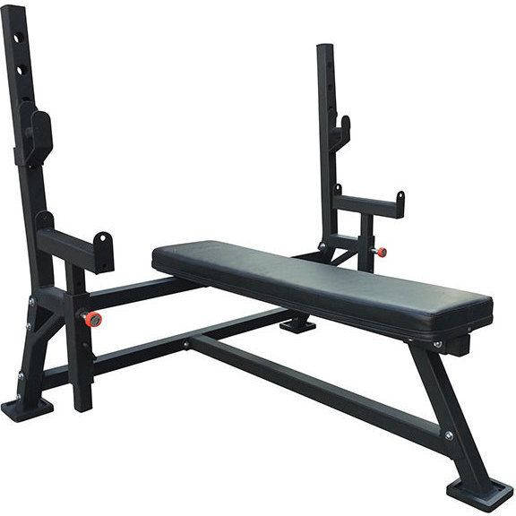 Body Iron Flat Bench Press With Safety Spotter Arms Bench Press Muscle Building Workouts Chest Muscles