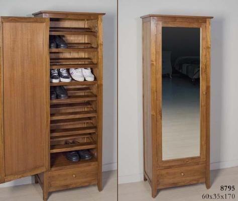 Zapatero armario colonial cosas de casa pinterest for Mueble guarda zapatos