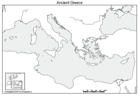 Worksheet Ancient Greece Map Blank ancient greece map set of 4 a0 99 cosmographics ltd uni ltd