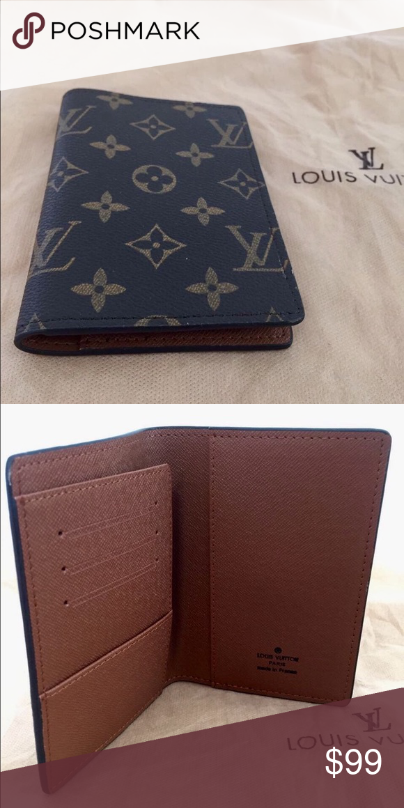 c5f0ec569a9 Leather Lv Passport Cover Made in France
