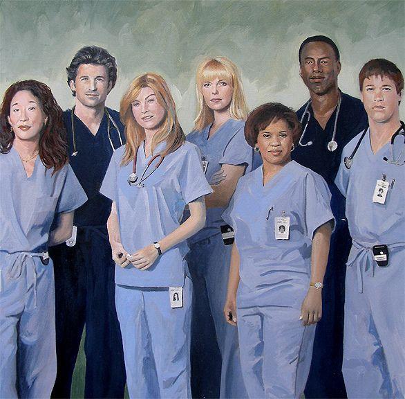 Grey\'s Anatomy Cast by David Fairrington | Anatomy, Grays anatomy ...
