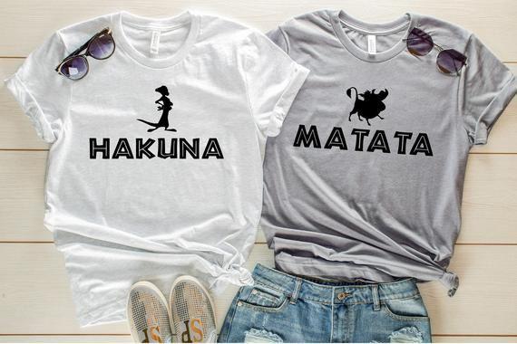Hakuna Matata Timon and Pumba Shirt Lion King Shirt Couples Shirts Best Friend S…