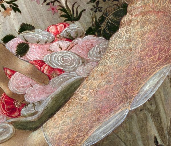 Spring (Primavera) (detail), c.1482, by Sandro Botticelli (Italian, 1445–1510)