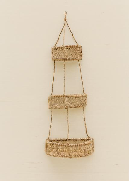 Jonote Three Tiered Hanging Basket Created In The Mountain Town Of Cuetzalan In The South Central State Of Puebla With Images Weaving Wall Hanging Hanging Baskets Basket