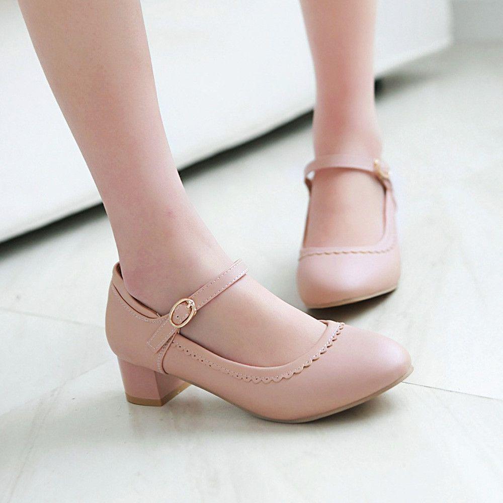 Heels: approx 4 cm Platform: approx cm Color: Black, Pink