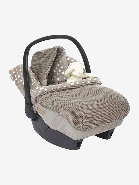 Gestrickter Fußsack Für Babyschalen Sterne Taupe Sterne 1 Asientos De Coche De Bebé Portabebe Para Carro Silla De Auto
