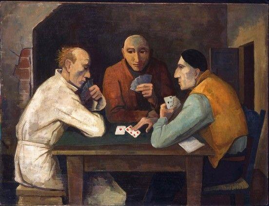 """Karl Hofer, """"Kartenspieler"""" von 1936, Öl auf Leinwand"""