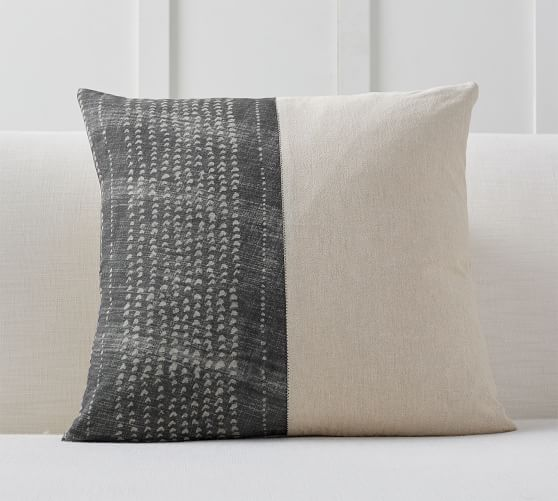 Dosha Shibori Pillow Cover 22 Gray