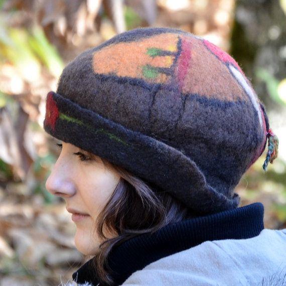 Vilten hoed vervilte wol hoeden Womens winter hoeden door jannio