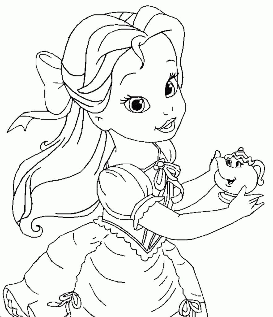 Ba Disney Coloring Pages Getcoloringpages Inside Baby Disney Princess Coloring Page Disney Princess Coloring Pages Belle Coloring Pages Princess Coloring Pages
