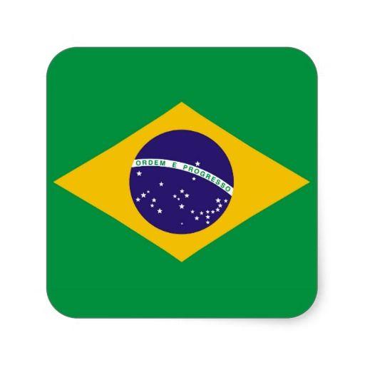 Flag Of Brazil Bandeira Do Brasil Square Sticker Zazzle Com In 2020 Brazil Flag Brazilian Flag Brazil Facts