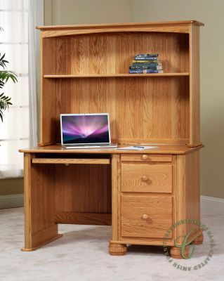 . Rounded corners and bun feet give our Denbigh Student Hutch Top Desk
