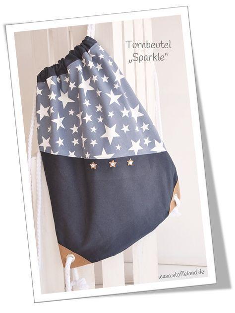 Lässiger Turnbeutel mit Sternen | nähen | Pinterest | Sewing, Sewing ...