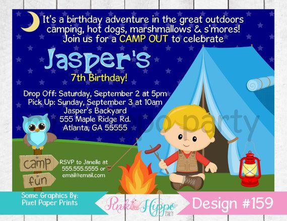 Outdoor Camping Tent Boy, Sleepover, Slumber Party:159-Children's Birthday…