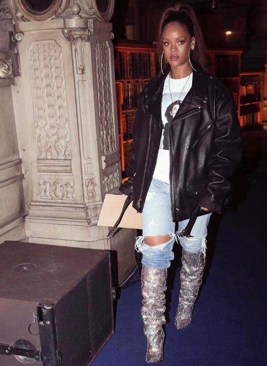 59a94b352976fa YSL boots Pinterest  KarinaCamerino Boyfriend Jeans