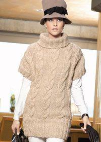 Cable knit tunic:#knit #knitting #free #pattern #freepattern #freeknittingpattern #knittingpattern
