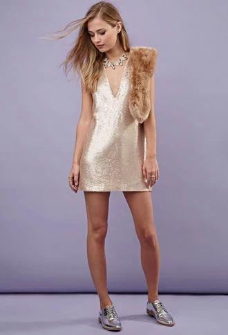 V-Cut Sequined Dress | Forever 21 #letscelebrate