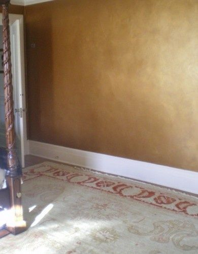 Gold Wall Glaze For Livingroom Wall Gold Walls Gold Painted Walls Metallic Paint Walls