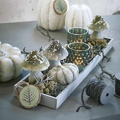 dekotablett ca 60x16x4cm hellgrau living home sweet home pinterest herbstdeko. Black Bedroom Furniture Sets. Home Design Ideas
