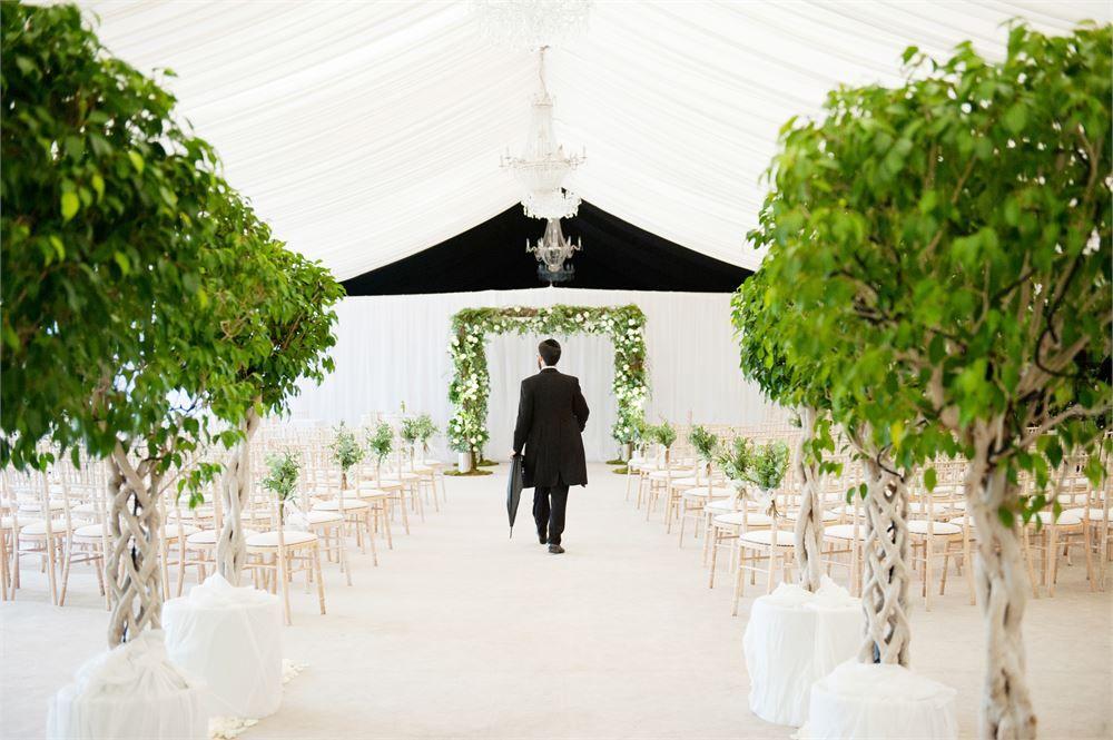 Wedding Ceremony In The Garden Pavilion At Mar Hall Hotel Bishopton Near Glasgow