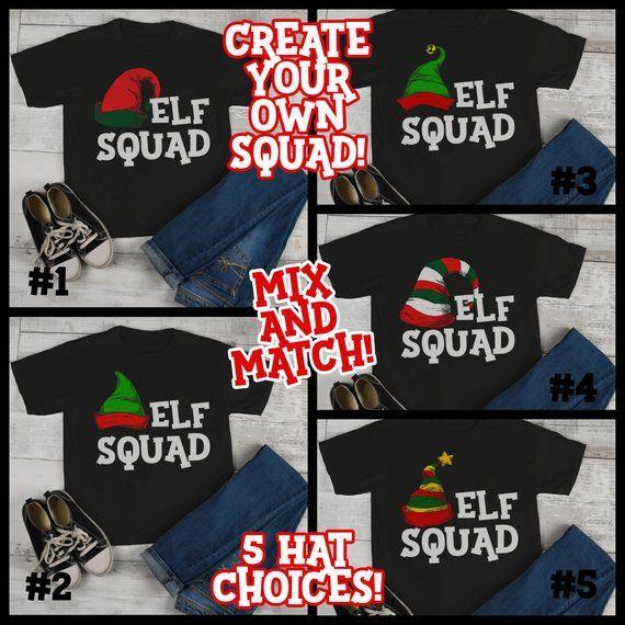 83ab564c Kids Elf Shirt Elf Outfit Christmas Shirt Elf Hat Tee Elf Squad Shirt  Matching Christmas Shirts Toddler Boy's Girl's