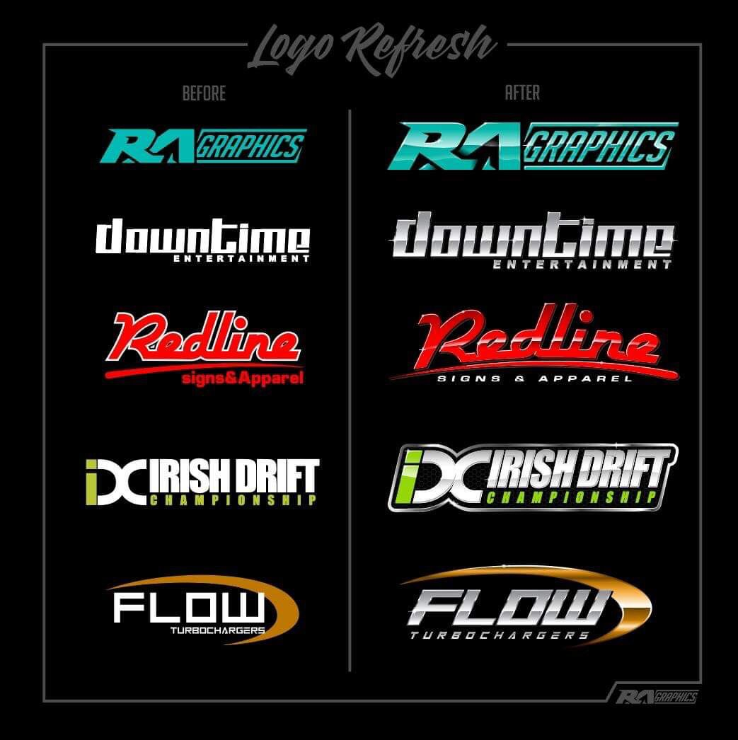 We at RA Graphics love our glossy chrome logos 😍 so we are