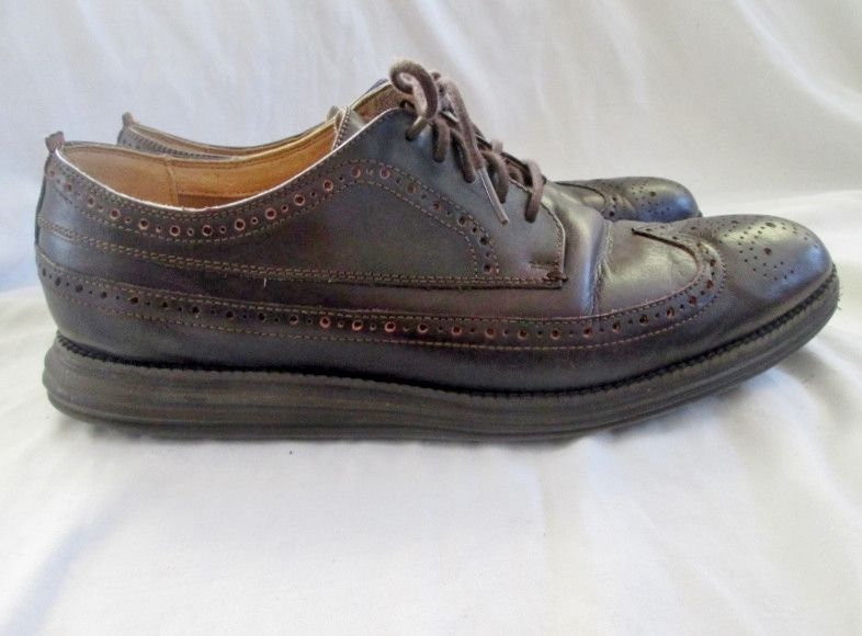 Mens COLE HAAN Grand.OS Wingtip Oxford C21135 Leather Shoes 11 BROWN