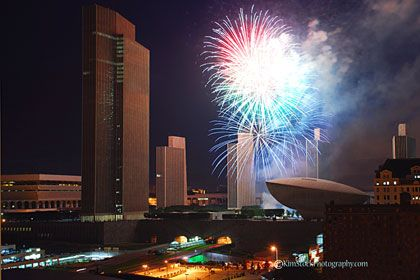 Fireworks at Empire State Plaza