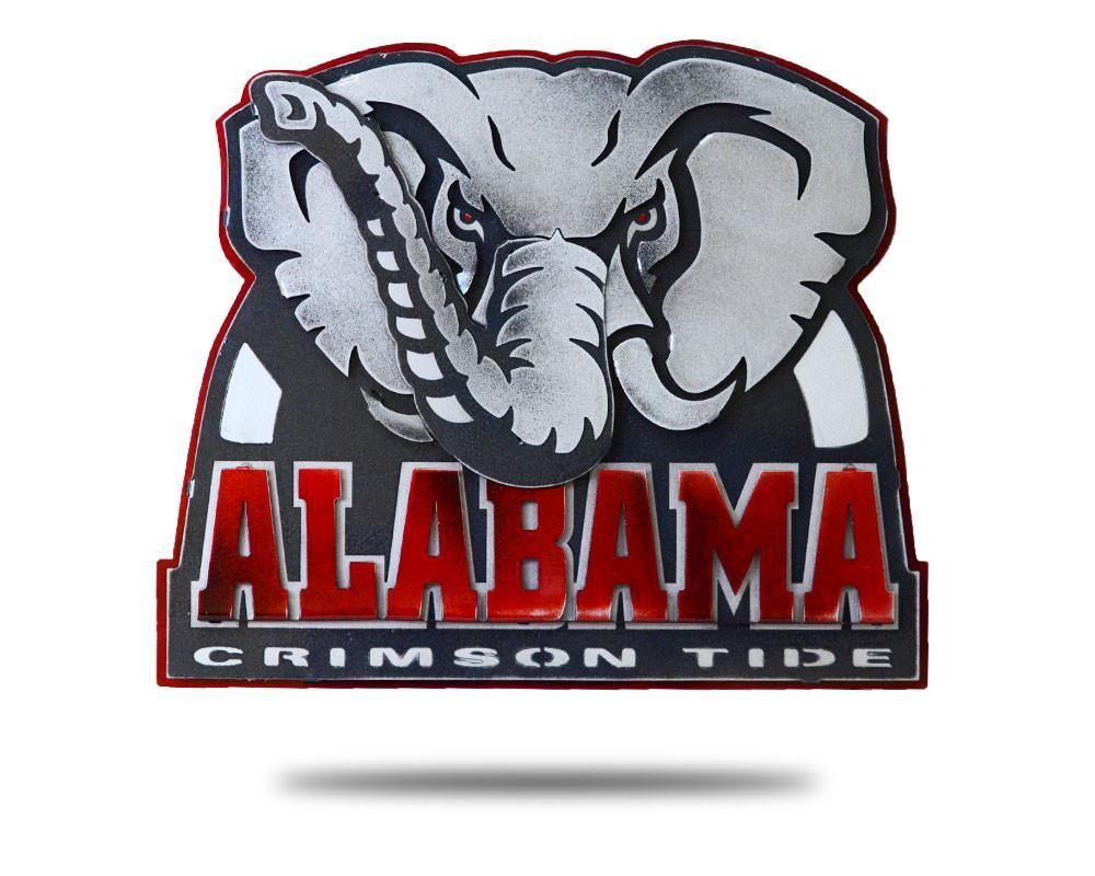 University Of Alabama Big Al 3d Vintage Metal Artwork