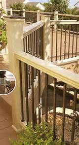 Best Iron Deck Spindles Pic 25 Vinyl Railing Wood Railing 400 x 300