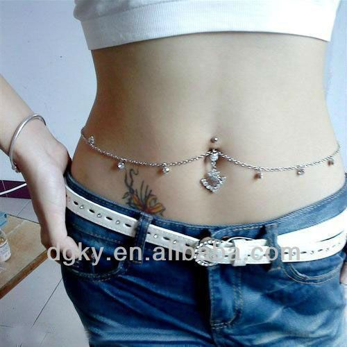 New Design Body Piercing Jewelry Indian Belly Chain 0 8 3 Belly Chain Body Chain Jewelry Belly Button Rings
