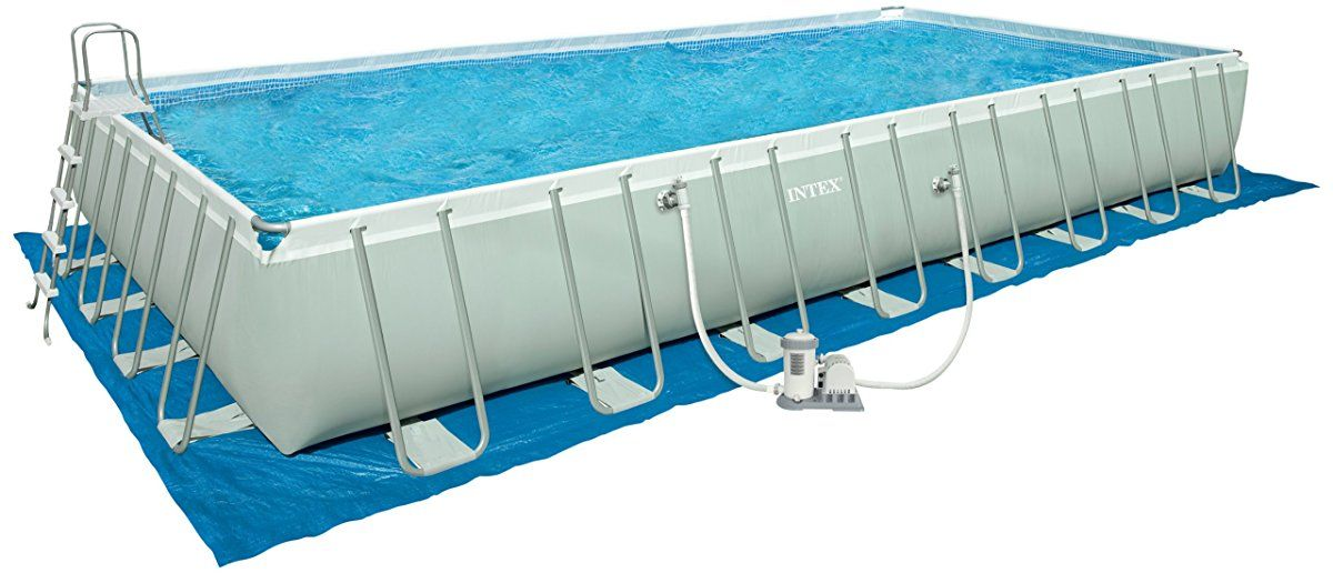Intex 32-Foot by 16-Foot by 52-Inch Rectangular Ultra Frame Pool ...