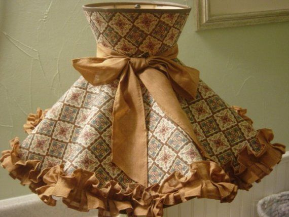 Vintage early american 60s lamp shade ruffled early american vintage early american 60s lamp shade ruffled aloadofball
