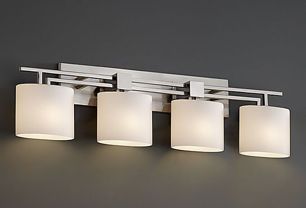 Just perfect for a modern bathroom. Hoping to have one someday! Apollo 4-Light Bath Bar on OneKingsLane.com