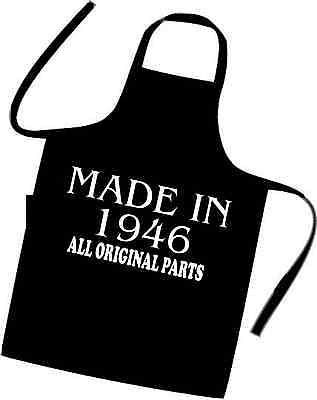70th BIRTHDAY Cooks Apron MADE IN 1946 All Original Parts Gift Idea More