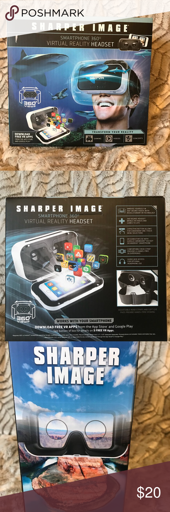 Sharper Image Smartphone 360 V Reality Headset Nwt In 2018 My Posh