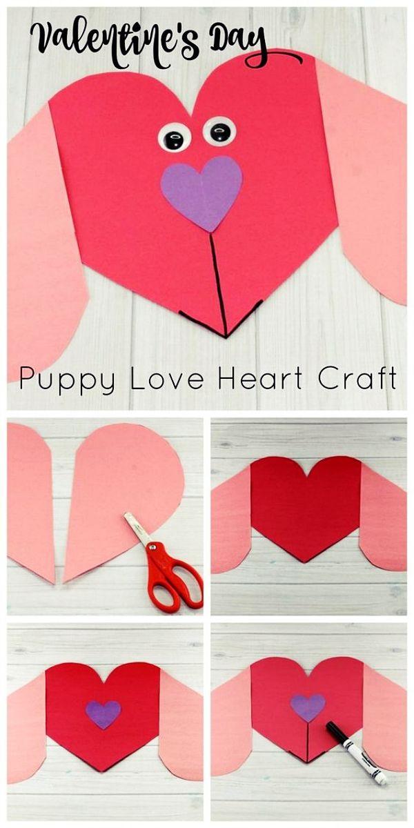 Homemade Valentine S Day Art Craft Ideas Valentines Day Gift Ideas For Him Cr Heart Crafts Preschool Valentine S Day Crafts For Kids Preschool Valentines