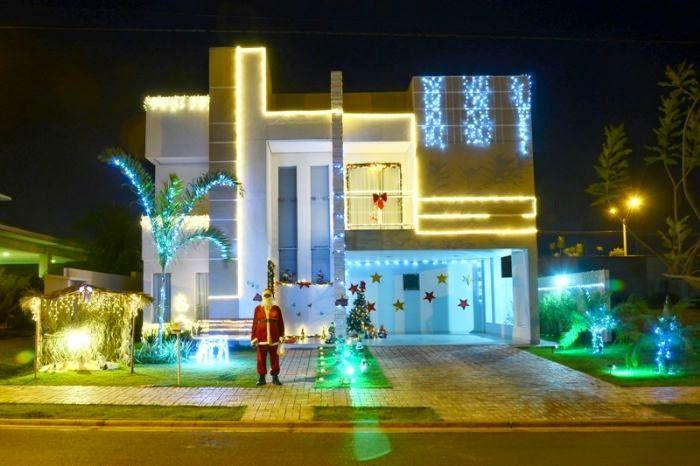 Pin em Fachadas de Casas e Lojas Decoradas Natal