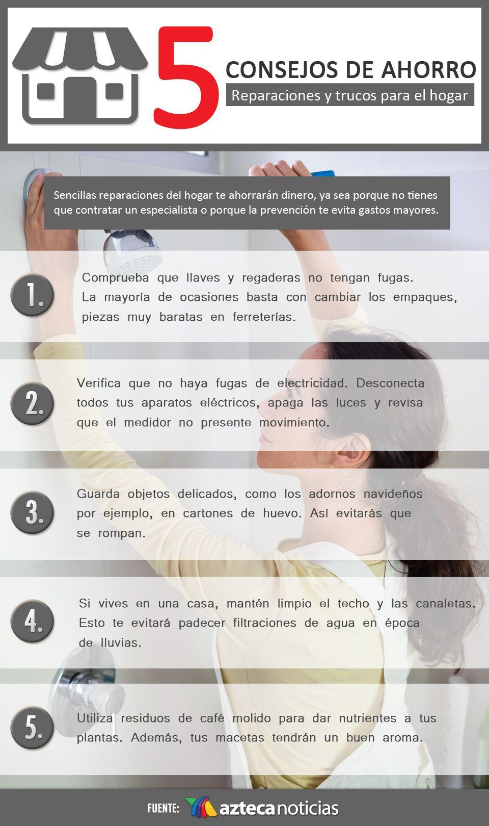 5 Consejos De Ahorro Reparaciones Y Trucos En El Infografia