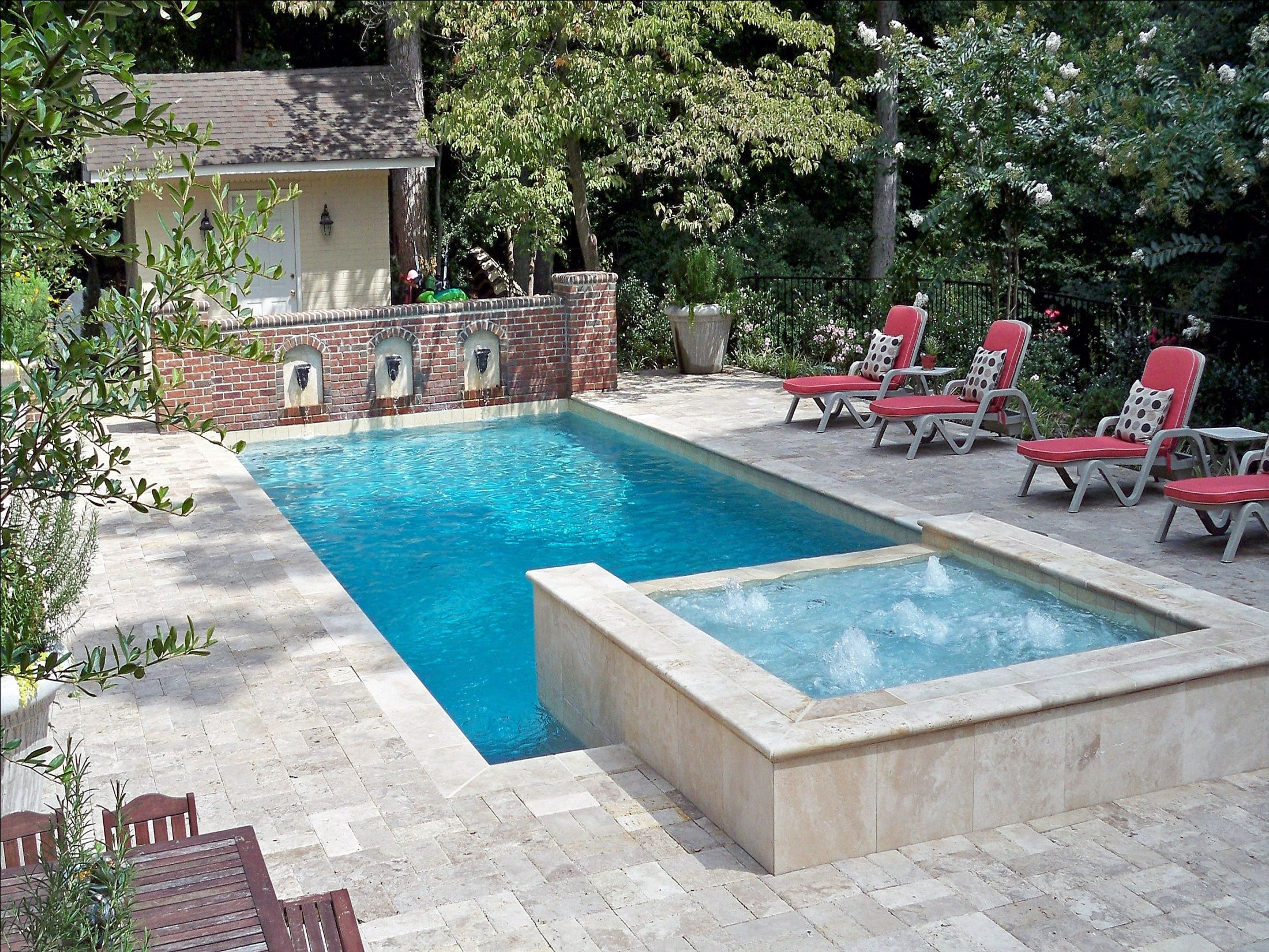 pool scuppers | Pool design & construction by Gress Inc ...