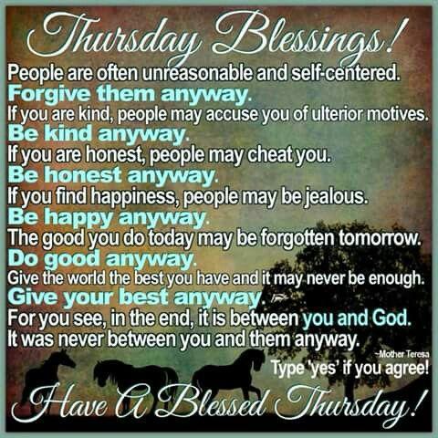 Thursday Blessings Days Of The Week Pinterest Thursday