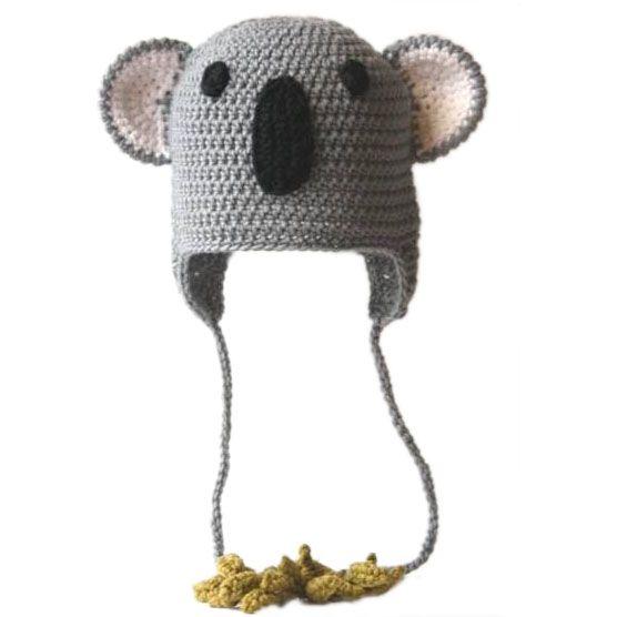 Funny crochet beanie koala