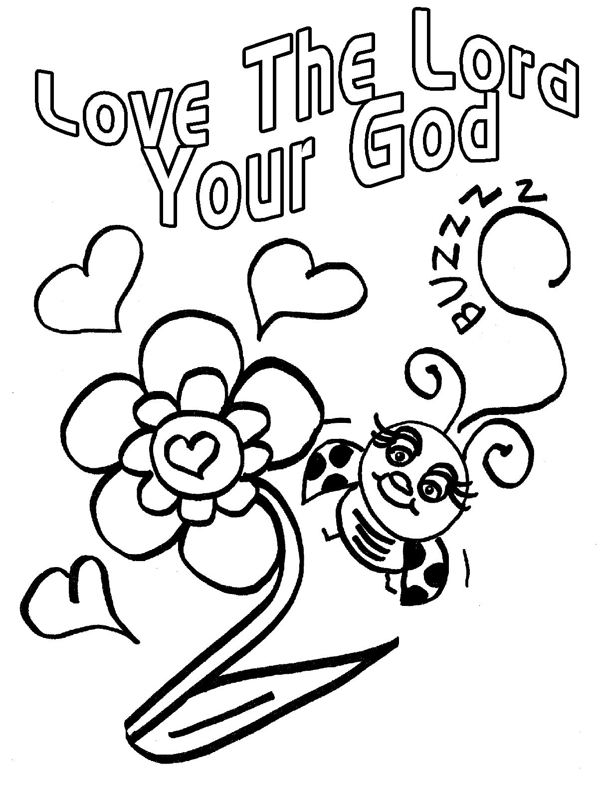 Childrens Gems In My Treasure Box: Love Bug For Jesus Coloring Pages ...