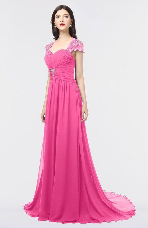 de322e35fe Mature A-line Sweetheart Short Sleeve Zip up Sweep Train Bridesmaid Dresses