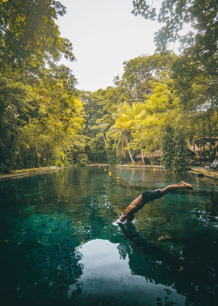 Ojo De Agua Is A Turqoise Blue Swimming Area On The